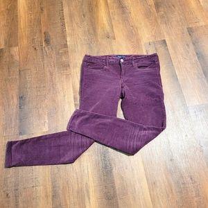 Purple Corduroy skinny pants